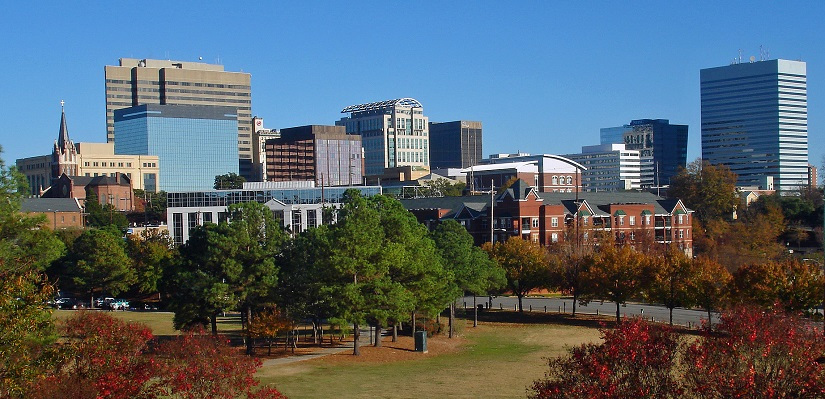 Skyline view of the city of Columbia, SC