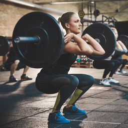 Close up of foot running on treadmill