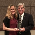 Arnold School alumna Megan Weis (DrPH, MPH in HPEB) receives Michael D. Jarrett Excellence in Customer Service Award from South Carolina Public Health Association