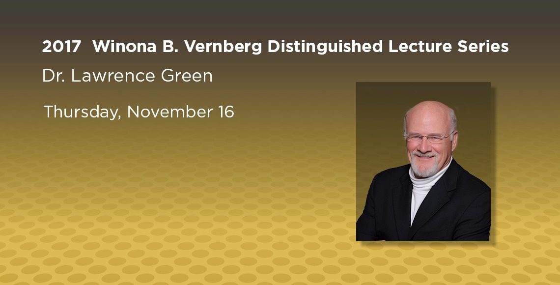 Vernberg Lecture: Lawrence Green