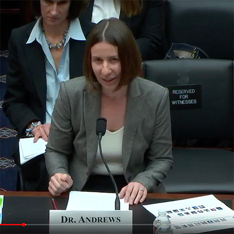 Chritina Andrews testifies before Congress