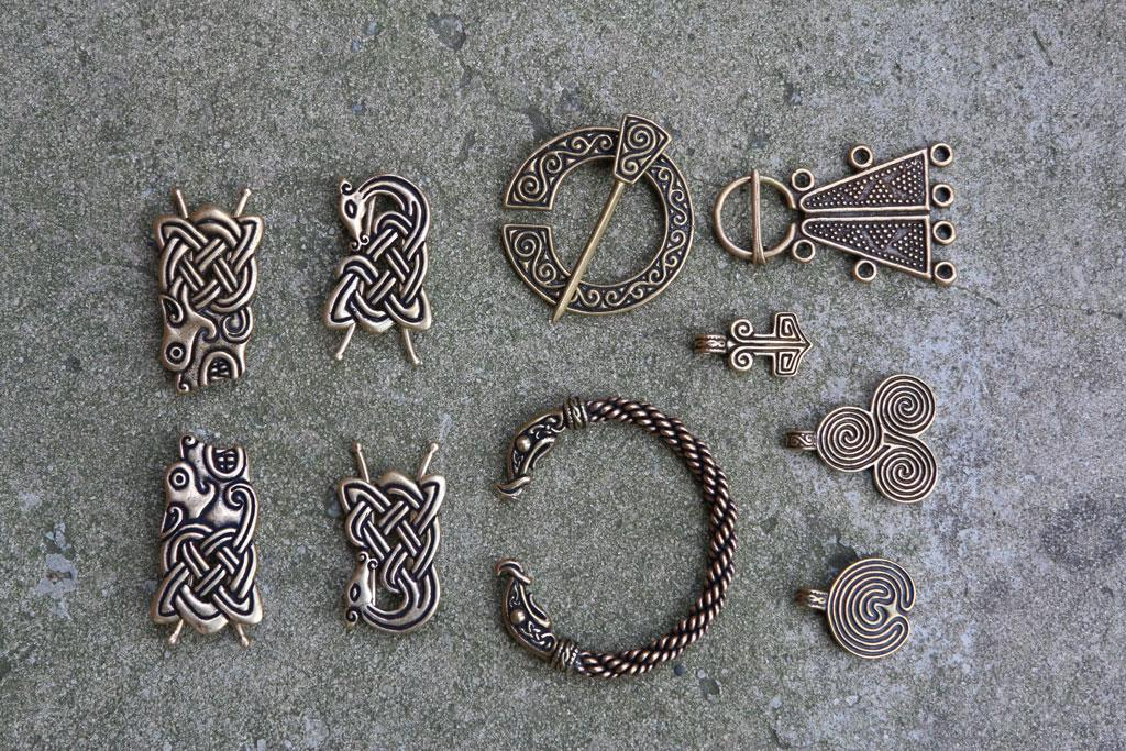 "A selection of the pieces handcrafted at Crafty Celts, the Batesburg business run by Danny Hansen and his wife, Sherry. The business received a big boost when its jewelry was featured on the popular History Channel show ""Vikings."""