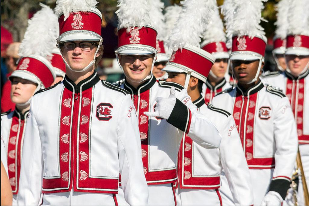 It was spurs up for the band at the Homecoming tailgate.