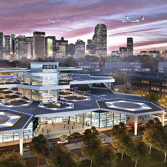 rendering of a proposed skyport design