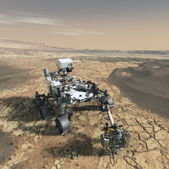 An artist's concept of NASA's Mars 2020 rover