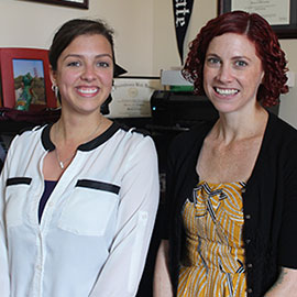 Sharon DeWitte (right) and Samantha Yaussy