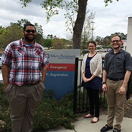 Jason Lockhart, Beth Michaels and Josh Agbunag visited all 70 of South Carolina's hospitals during their rotation with the Palmetto Poison Center.