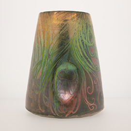 Clement Massier, Vase, 1895-1910. Ceramic.