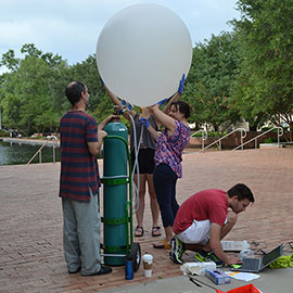 Geography researchers launch weather ballon
