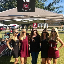 Ladies tailgating before the first Gamecocks home game of 2017