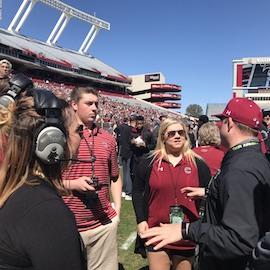 Sport management students interning at Williams-Brice