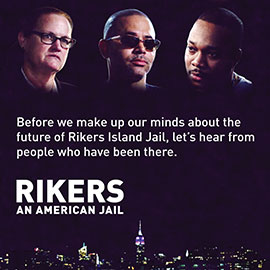"""Rikers: An American Jail"" poster"