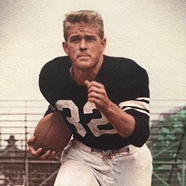 Hootie Johnson in football uniform