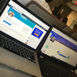Dueling laptops