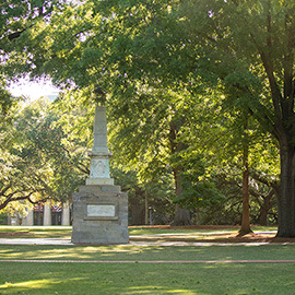Maxcy Gregg monument on the Horseshoe