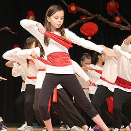Dancer at Chinese New Year celebration