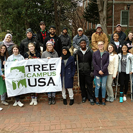 Students gathered at a previous Arbor Day at UofSC event