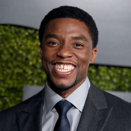 Actor Chadwick Boseman at the GQ Men of the Year party  in  2015.