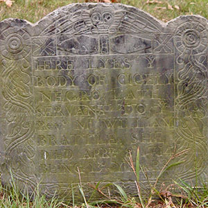 old gravestone for an enslaved person named Cicely