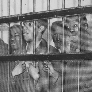 Friendship 9 students who protested against racial discrimination and were put in prison, Rock Hill, South Carolina, February 1961
