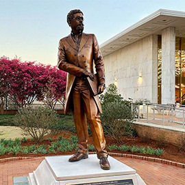 Richard T. Greener statue at thomas cooper library