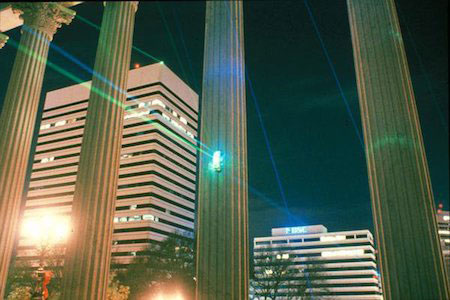 Laser light art installation at S.C. State House