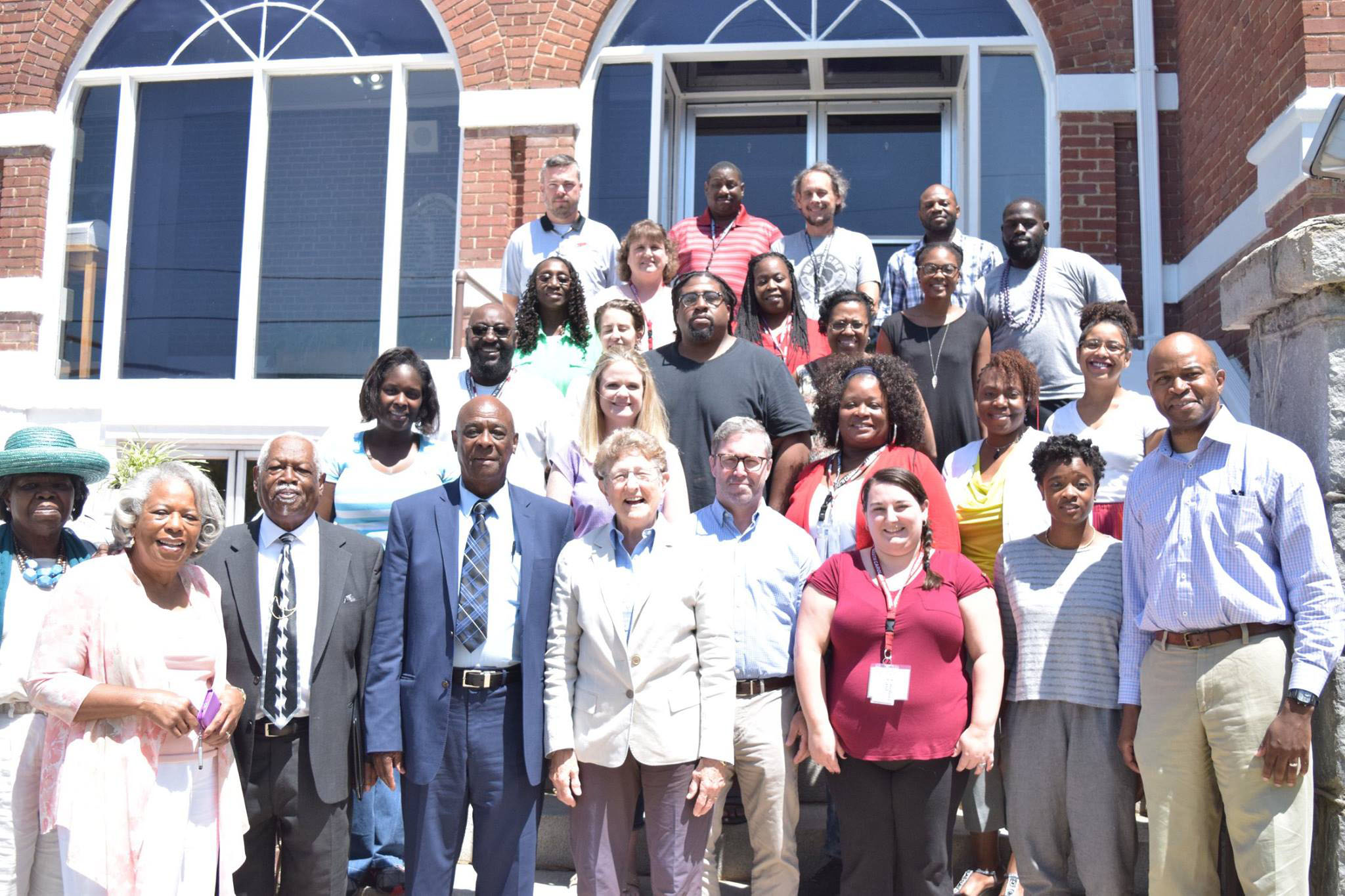 Civil rights teacher institute participants and leders
