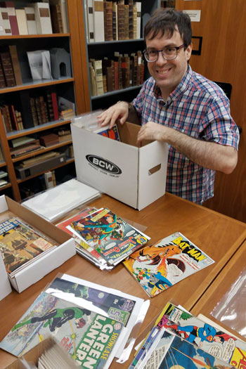 comic book curator David Shay