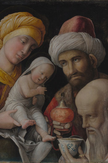 painting adoration of the Magi by artist Andrea Mantegna