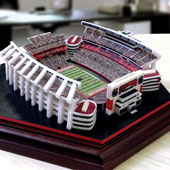 Plastic-block replica of Williams-Brice Stadium