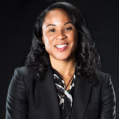 Women's basketball coach Dawn Staley