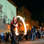 Fire thrower at First Thursday