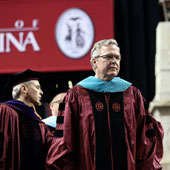 Former Florida Governor Jeb Bush at commencement