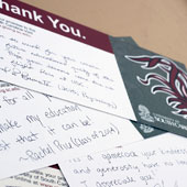 TAG dayThank you cards written by students to Carolina's Promise donors