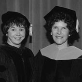 Dean Mary Ann Parsons and the first graduate of the DNP program