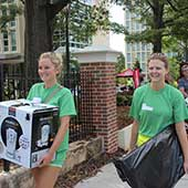 For the first year, other students will be lending a helping hand to get the freshman class settled as a part of the Move-In Crew. In year's past this duty has fallen solely to faculty and staff members, carrying armfuls of belongings up stairs or on elevators and through hallways.