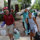 6,706 students moving into the residence halls.
