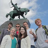 UofSC students studying abroad in Ufa, Bashkortostan