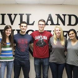 Grace Porter, Ethan Washman, Scott Miller, Brittany Miller and Elizabeth Shelar