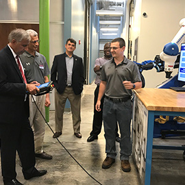 President Pastides visit to Digital Transformation Lab